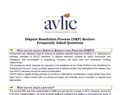 DRP Review FAQ-English