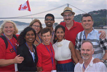 Canadian interpreters attending WASLI 2015