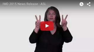 IWD 2015 - ASL video link