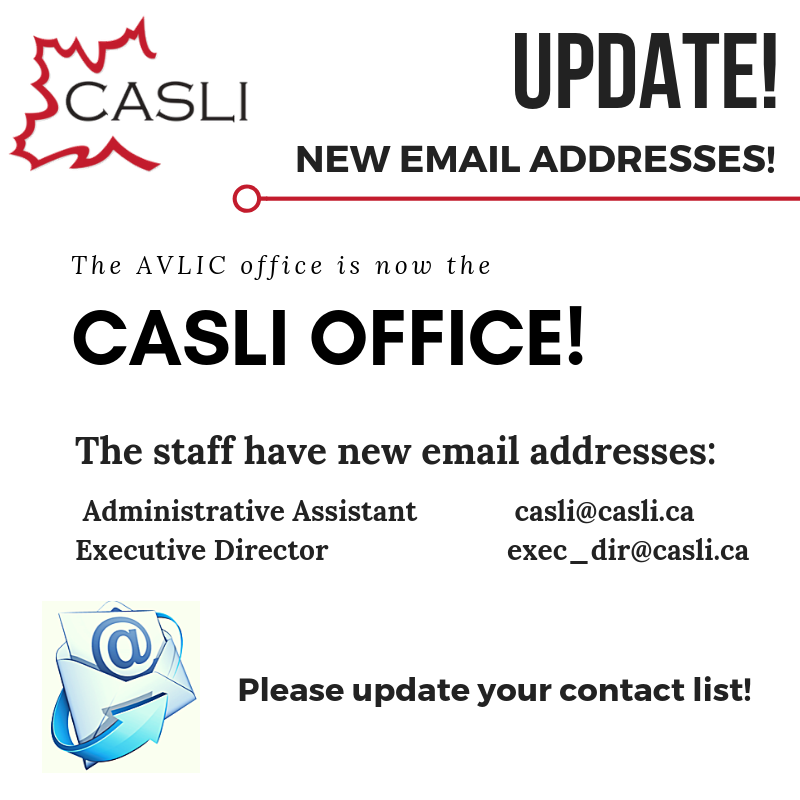 Notice: Change in Staff Email Addresses | AVLIC
